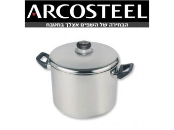 סיר ארקוסטיל 10 ליטר גליל גבוה ARCOSTEEL