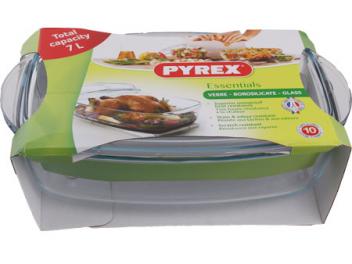 סיר פיירקס מלבני 4.6 ליטר+מכסה תוצרת צרפת