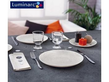 מערכת אוכל 18 חלקים לומינארק דגם ויבראנס לבן