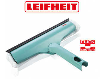 מגב משולב מטלית 3 ב-1 לנקוי חלונות רחב LEIFHEIT גרמניה לייפהייט Click 51320