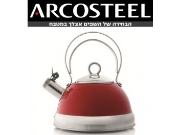 קומקום רטרו שורק ארקוסטיל בצבע אדום 1.8 ליטר