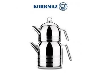 סט קומקומים לתה KORKMAZ דגם מגה קורקמז