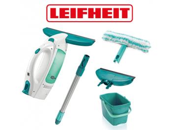 סט מנקה חלונות חשמלי LEIFHEITּ הכולל דלי,מוט,ראש נוסף ומקרצף מחיר בטלפון
