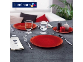 מערכת אוכל 18 חלקים לומינארק דגם ויבראנס אדום
