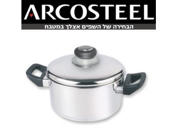 סיר ארקוסטיל 4 ליטר גליל גבוה ARCOSTEEL