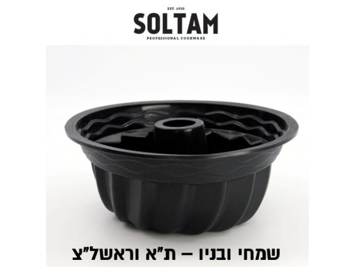 תבנית סיליקון שחור קוגלהוף סולתם 26 ס״מ סיליקון