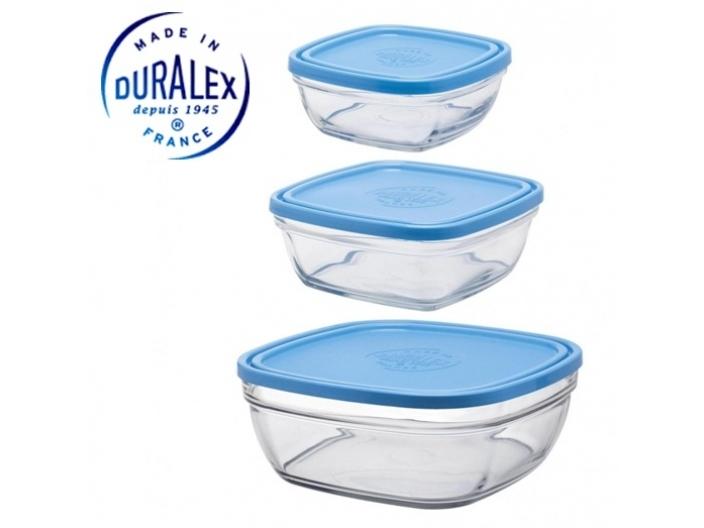 סט 3 קופסאות דורלקס Duralex