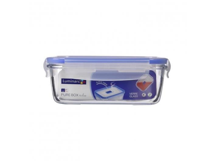 קופסאת אחסון לומינארק מלבנית 1.22 ליטר זכוכית פיורבוקס