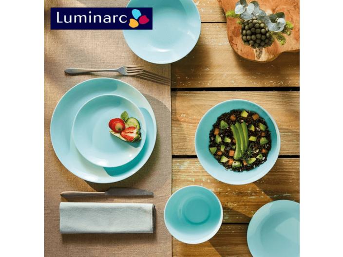 מערכת אוכל 18 חלקים לומינארק Luminarc דגם דיואלי טורקיז Light Turquoise איכות גבוהה