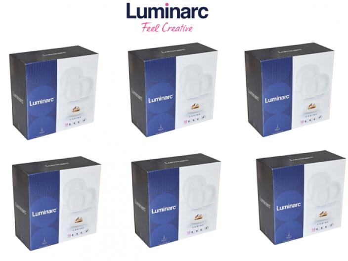 מארז 10 מערכות אוכל לומינארק קארין לבן נשלח רק בערי המרכז פרטים במוצר