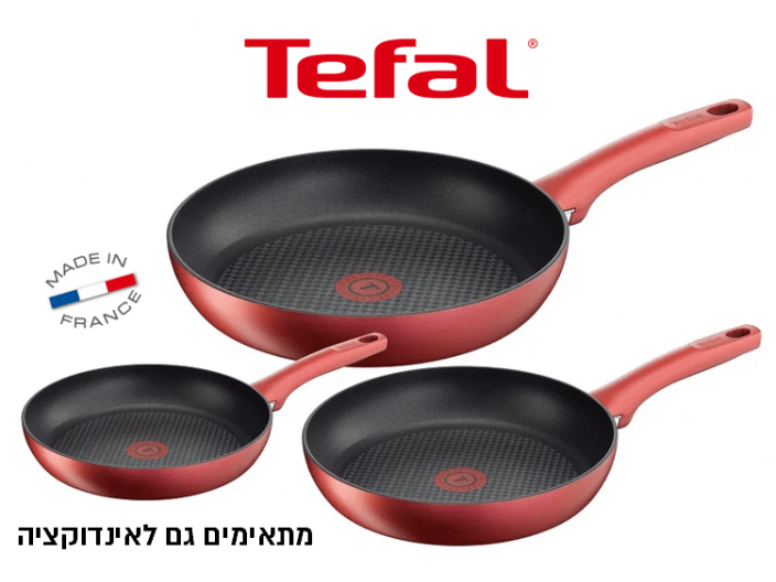 """סט 3 מחבתות Tefal Character בקוטר 21,24,28 ס""""מ"""