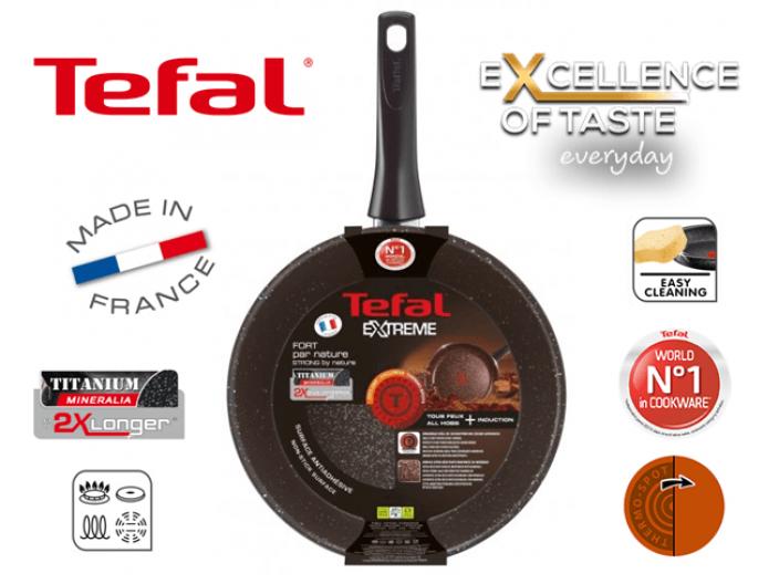 """מחבת Tefal סדרת אקסטרים Extreme קוטר 28 ס""""מ"""