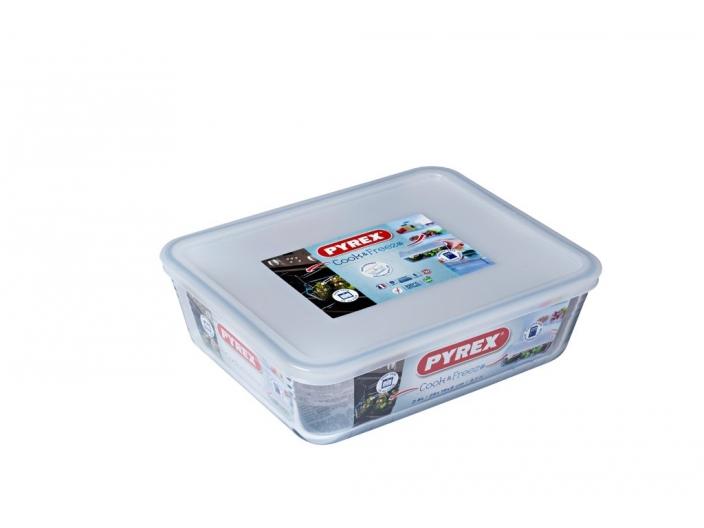 קופסאת אחסון פיירקס מלבנית 2.6 ליטר מכסה לבן
