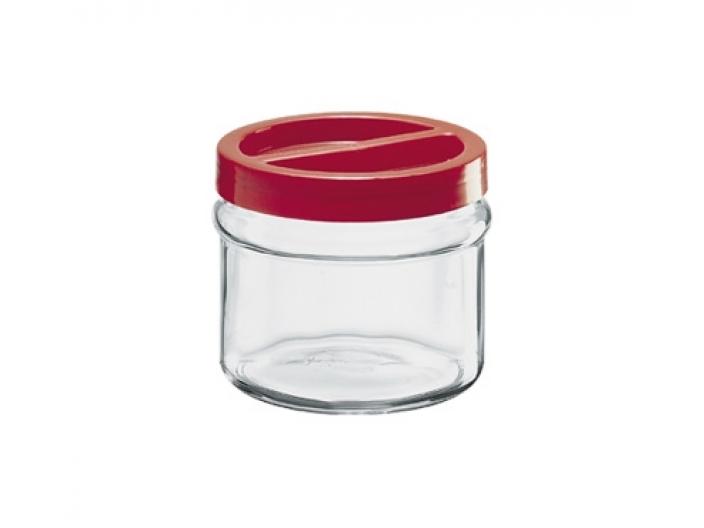 צנצנת הברגה+מכסה אדום 2.5 ליטר קורטינה חסר במלאי