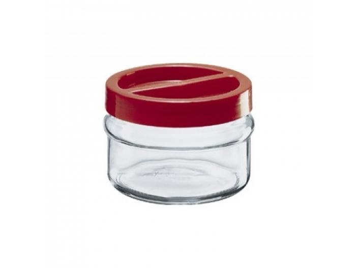 צנצנת הברגה+מכסה אדום 1.5 ליטר קורטינה חסר במלאי