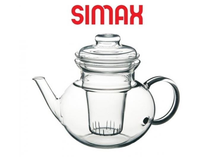 קנקן זכוכית לחליטת תה 1.3 ליטר+זרבובית סימקס SIMAX