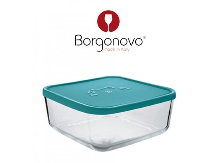 """קופסאת אחסון מרובעת איגלו 18.5 ס""""מ זכוכית"""