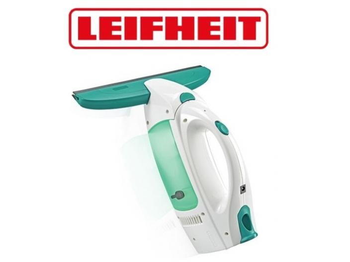 """מנקה חלונות חשמלי עם ראש נשלף ברוחב 28 ס""""מ מבית LEIFHEIT"""