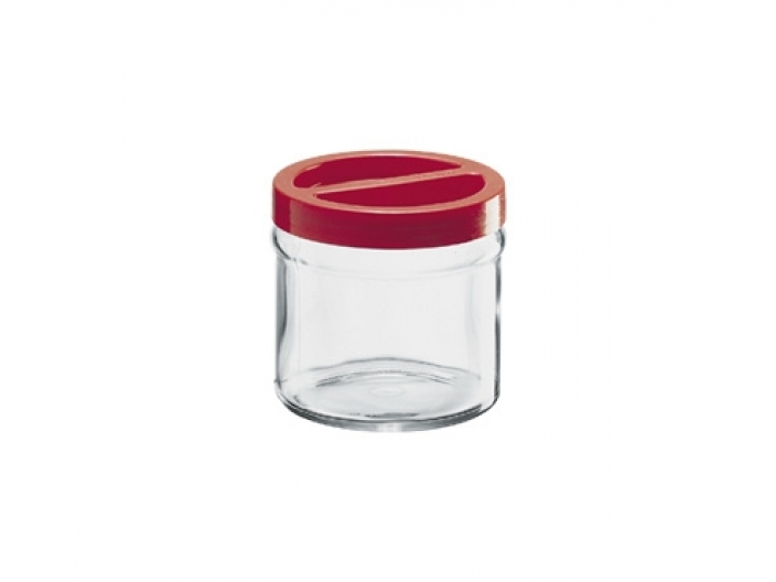 צנצנת הברגה+מכסה אדום 1 ליטר קורטינה חסר במלאי