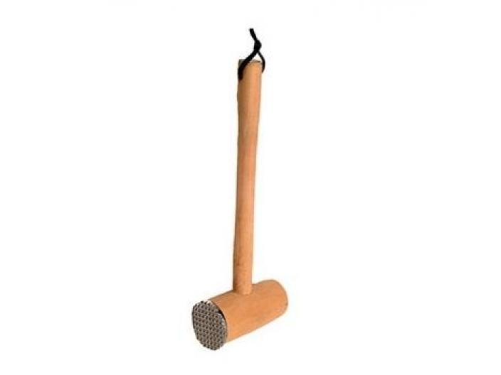 פטיש שניצל עץ+מתכת צד אחד