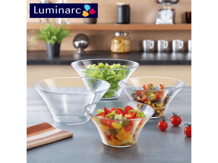 """קערת זכוכית לומינארק 22 ס""""מ דגם Salad Club"""