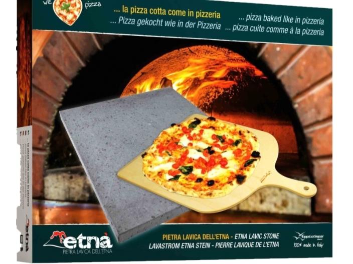 אבן שמוט מלבנית לפיצה+כף הרמה תוצרת איטליה איכות גבוהה נשלח עם שליח באזור המרכז