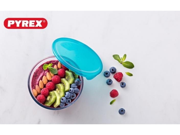 קערה פיירקס 0.5 ליטר + מכסה ירוק