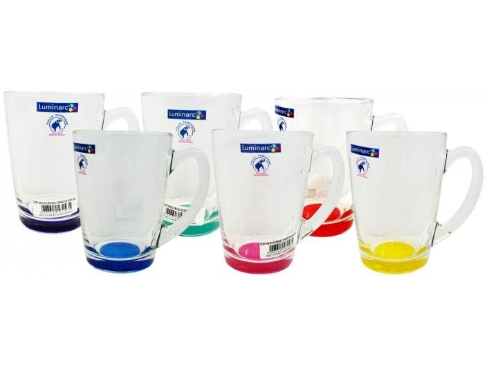 סט 6 כוסות לומינארק דגם ניו מורנינג צבעוני 320cc
