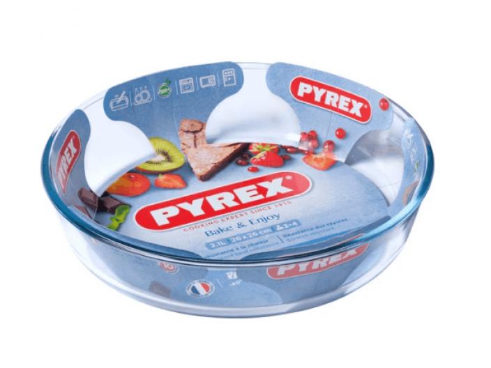 """תבנית פיירקס עגולה לעוגה 26 ס""""מ"""