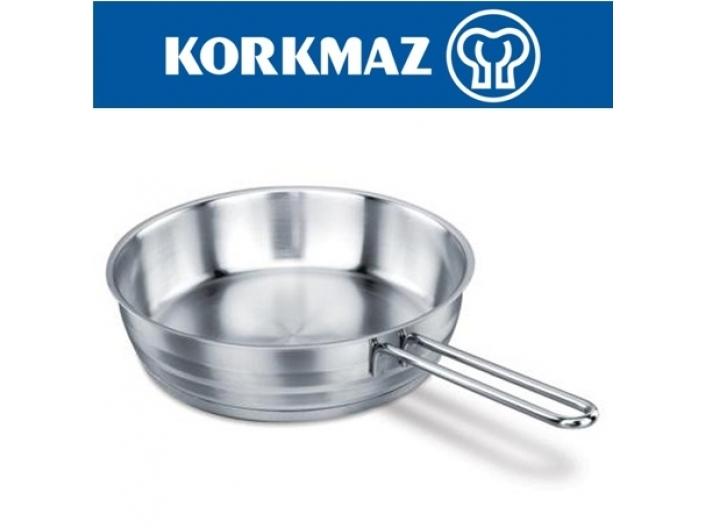 """מחבת נירוסטה 20 ס""""מ KORKMAZ קורקמז"""