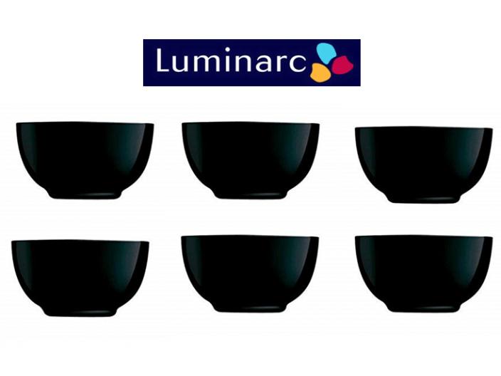 סט 6 קעריות מרק דיואלי לומינארק שחור 15 ס״מ