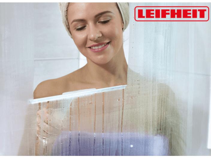 """מגב ברוחב 24 ס""""מ למקלחונים עם חוט תליה Leifheit"""