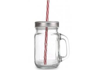 כוסות זכוכית עם קשית