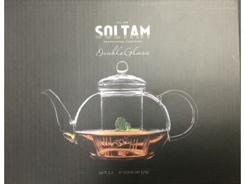 קומקום תה זכוכית 2.2  ליטר זכוכית סולתם