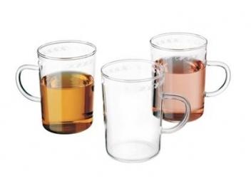 סט 6 כוסות מזכוכית דקה סימקס SIMAX דגם עיטור נטשה