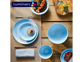 מערכת אוכל 18 חלקים לומינארק Luminarc דגם דיואלי Light Blue