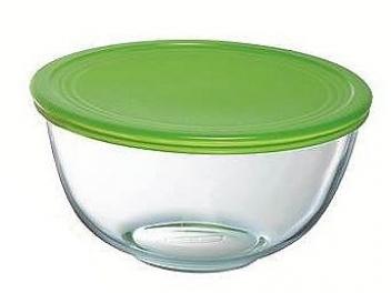 קערה 2 ליטר+מכסה ירוק פיירקס קוק אנד סטור מכסה טורקיז