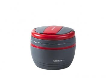 טרמוס אוכל ארקוסטיל 0.5 ליטר + ידית נשיאה אפור אדום