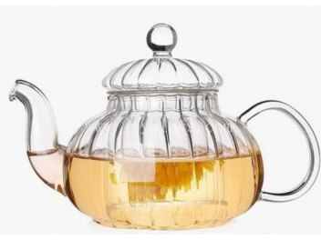 קומקום תה זכוכית אלסקה+ פילטר זכוכית 1 ליטר
