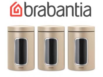 סט 3 קופסאות חלון בצבע שמפניה 1.4 ליטר Brabantia