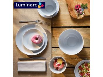 מערכת אוכל 18 חלקים לומינארק Luminarc דגם דיואלי אפור Granit