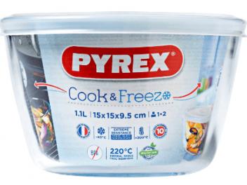 קופסאת אחסון פיירקס עגולה 0.6 ליטר חדש