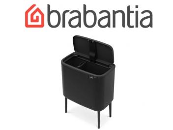 *כולל משלוח עד הבית* BO טאץ פח הפרדה 11+23 ליטר שחור מט Brabantia