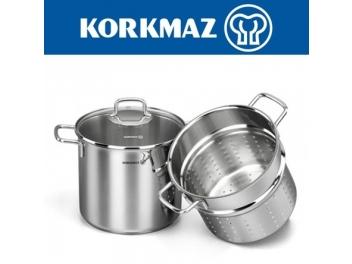 סיר פסטה KORKMAZ נפח 5.6 ליטר קורקמז חסר במלאי