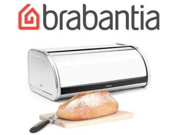 קופסת לחם גדולה, מכסה מתגלגל - מבריק Brabantia