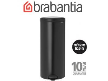*כולל משלוח עד הבית* פח פדל 30 ליטר שחור מט  Brabantia - NewIcon
