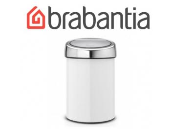 פח טאץ 3 ליטר לבן, כולל תליה Brabantia
