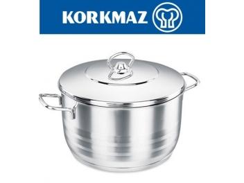 סיר נירוסטה נמוך קורקמז 3.6 ליטר KORKMAZ