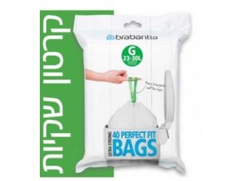 קרטון שקיות קוד G לפח אשפה 30-23 ליטר 400 יח׳ Brabantia