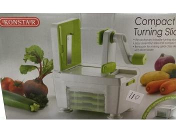 מכשיר לחיתוך ירקות בצורת ספירלה עם 4 סכינים